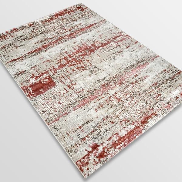 Модерен килим - Атлас 851 Розов/Визон