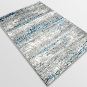 Модерен килим - Атлас 851 Син/Сив