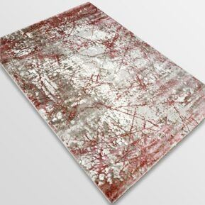 Модерен килим - Атлас 855 Розов/Визон