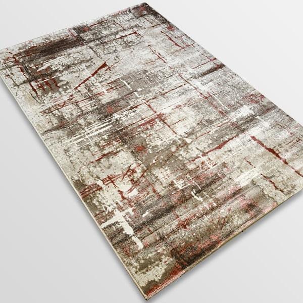 Модерен килим - Атлас 878 Розов/Визон