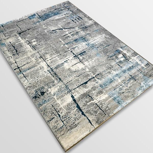 Модерен килим - Атлас 878 Син/Сив