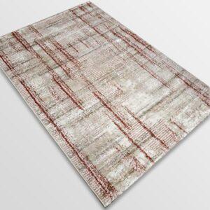 Модерен килим - Атлас 892 Розов/Визон