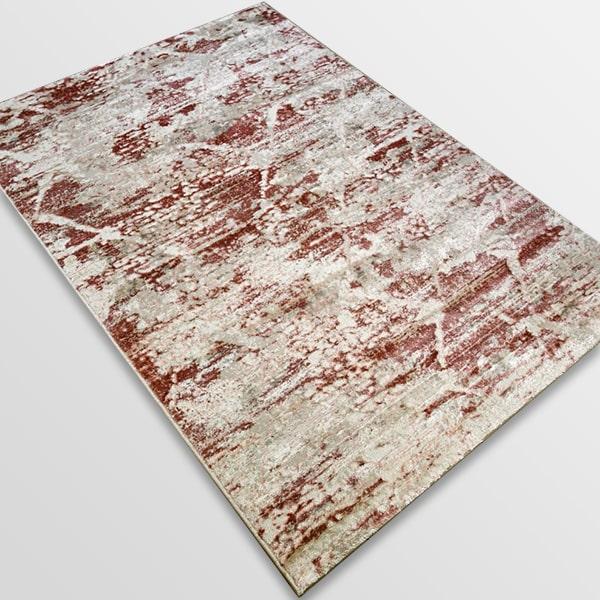 Модерен килим - Атлас 894 Розов/Визон