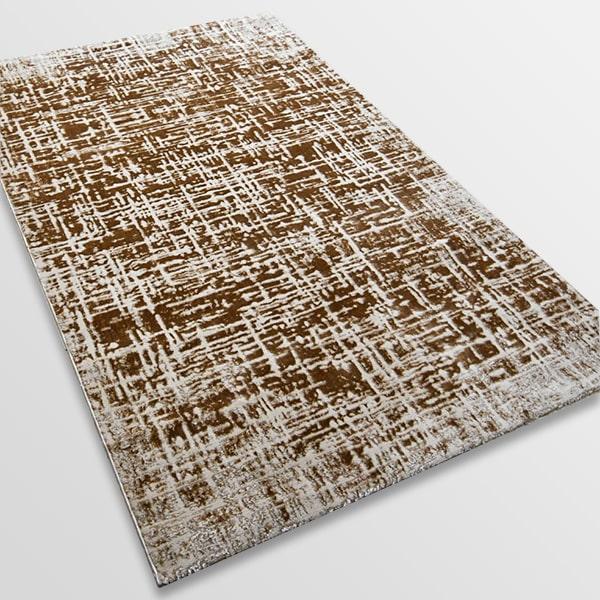 Модерен килим - Лора 8053 Светло Кафяв