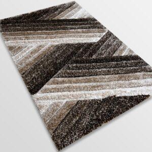 Рошав килим - 3Д Софт Шаги 302 Визон/Кафяв