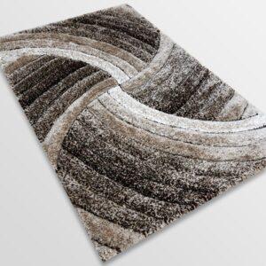 Рошав килим - 3Д Софт Шаги 304 Визон/Кафяв