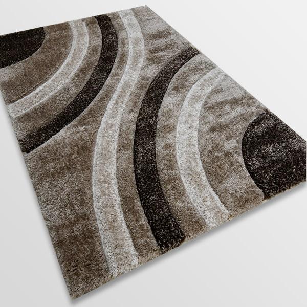 Рошав килим - 3Д Софт Шаги 305 Визон/Кафяв