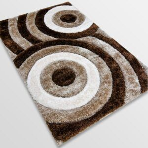Рошав килим - 3Д Софт Шаги 324 Визон/Кафяв
