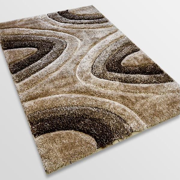 Рошав килим - 3Д Софт Шаги 325 Визон/Кафяв