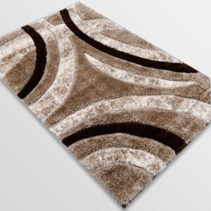 Рошав килим - 3Д Софт Шаги 342 Визон/Бежов