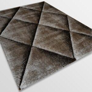 Рошав килим - 3Д Софт Шаги 376 Визон/Кафяв