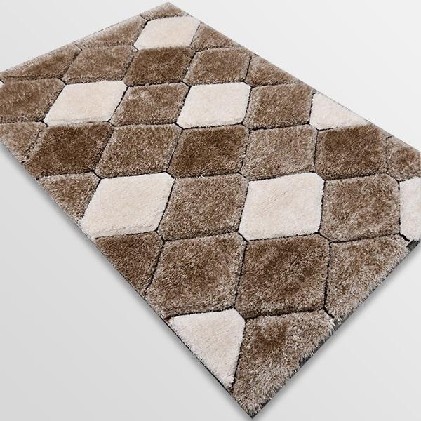 Рошав килим - 3Д Софт Шаги 420 Визон/Кафяв
