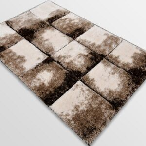 Рошав килим - 3Д Софт Шаги 535 Бежов/Визон