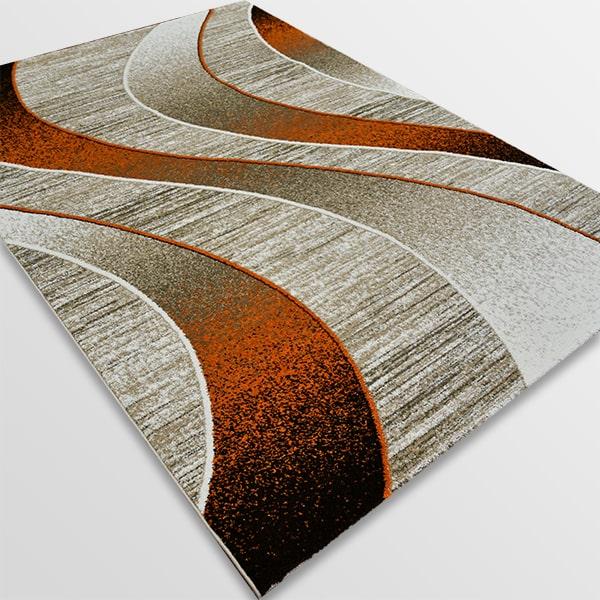 Модерен килим - Ирис 582 Бежов/Оранжев
