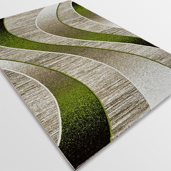 Модерен килим - Ирис 582 Бежов/Зелен