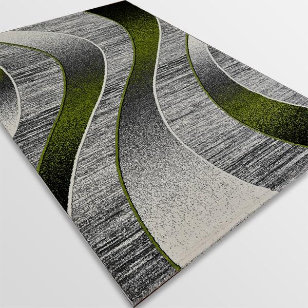Модерен килим - Ирис 582 Сив/Зелен