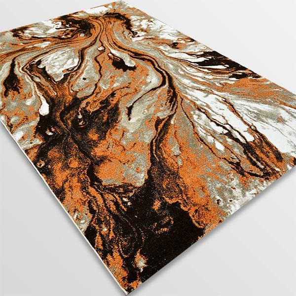 Модерен килим - Ирис 591 Бежов/Оранжев