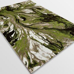 Модерен килим - Ирис 591 Бежов/Зелен