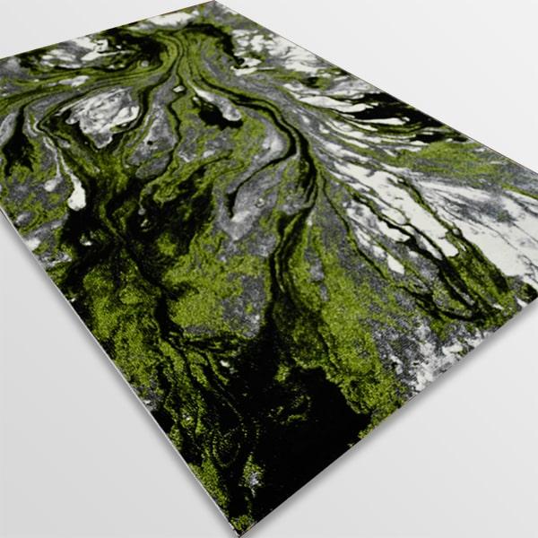 Модерен килим - Ирис 591 Сив/Зелен