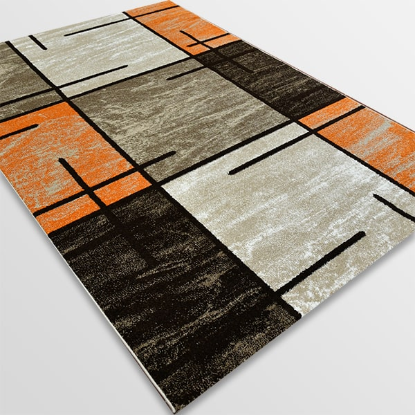 Модерен килим - Ирис 592 Бежов/Оранжев