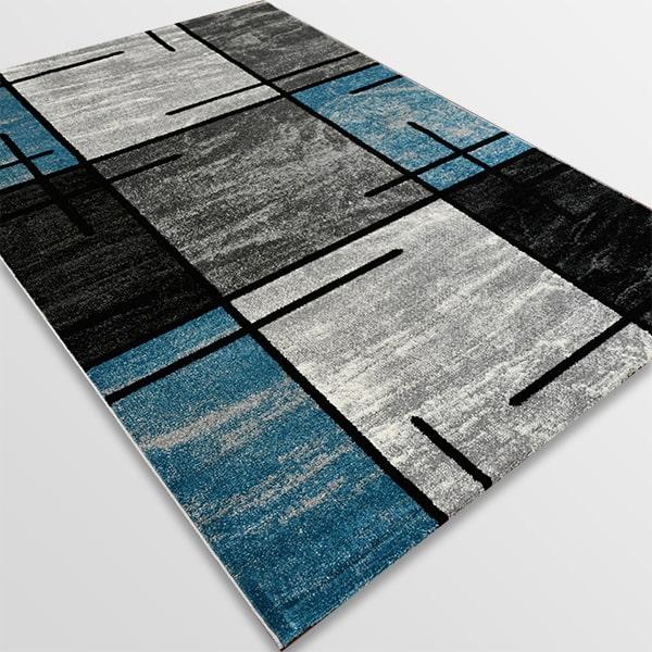 Модерен килим - Ирис 592 Сив/Син