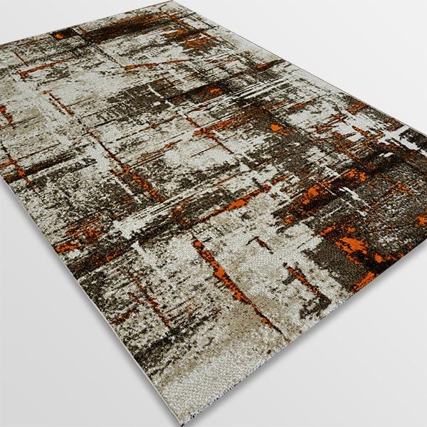 Модерен килим - Ирис 595 Бежов/Оранжев