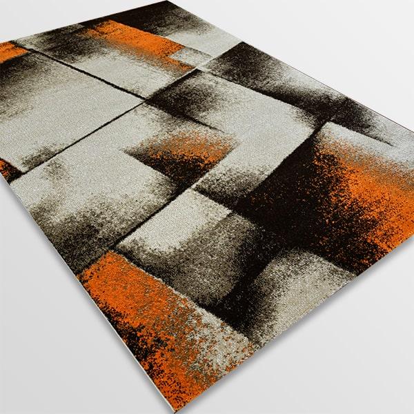 Модерен килим - Ирис 596 Бежов/Оранжев