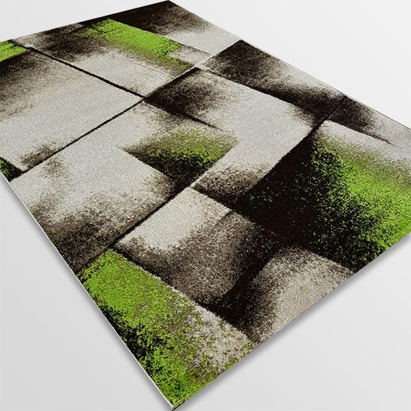 Модерен килим - Ирис 596 Бежов/Зелен
