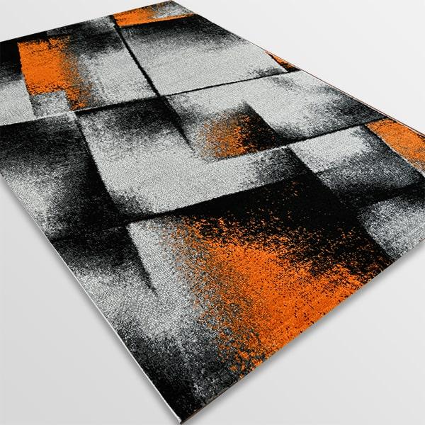 Модерен килим - Ирис 596 Сив/Оранжев