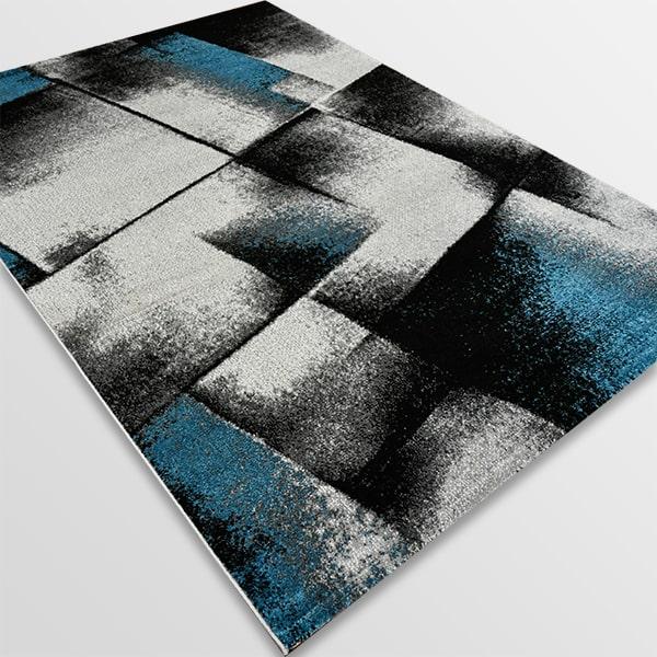 Модерен килим - Ирис 596 Сив/Син