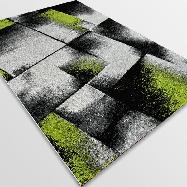 Модерен килим - Ирис 596 Сив/Зелен