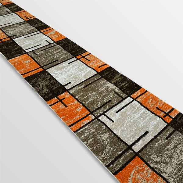 Модерна пътека - Ирис 592 Бежов/Оранжев