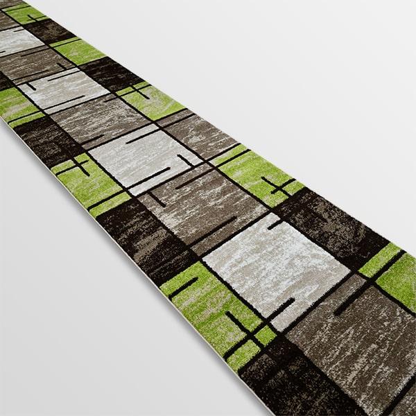 Модерна пътека - Ирис 592 Бежов/Зелен