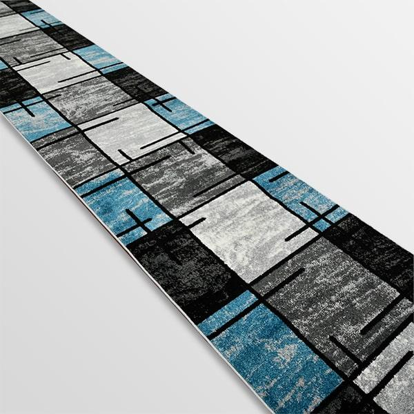 Модерна пътека - Ирис 592 Сив/Син