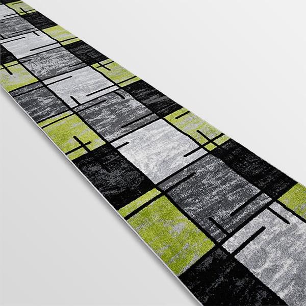 Модерна пътека - Ирис 592 Сив/Зелен