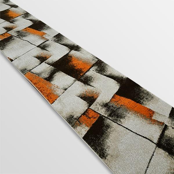 Модерна пътека - Ирис 596 Бежов/Оранжев