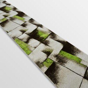 Модерна пътека - Ирис 596 Бежов/Зелен
