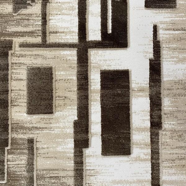 Акрилен килим - Вега 2219 Кафяв - детайл - 1