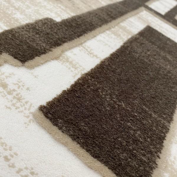 Акрилен килим - Вега 2219 Кафяв - детайл - 2