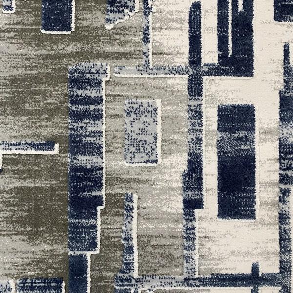 Акрилен килим - Вега 2219 Син - детайл - 1