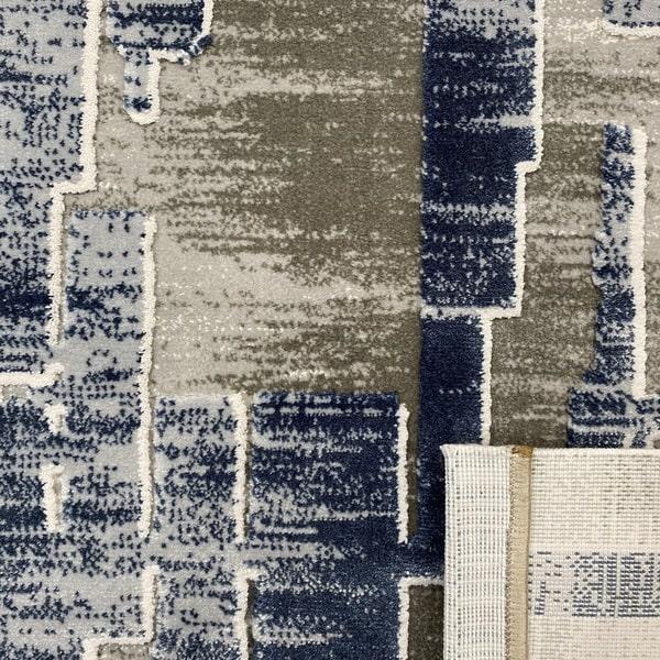 Акрилен килим - Вега 2219 Син - детайл - 3