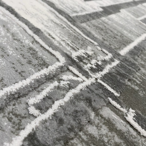 Акрилен килим - Вега 2219 Сив - детайл - 2