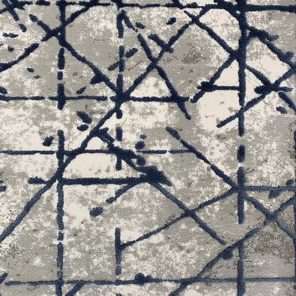Акрилен килим - Вега 3949 Син - детайл - 1