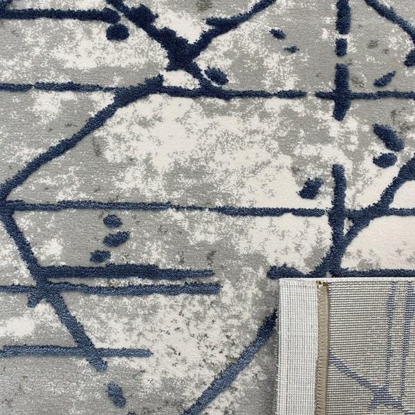 Акрилен килим - Вега 3949 Син - детайл - 3