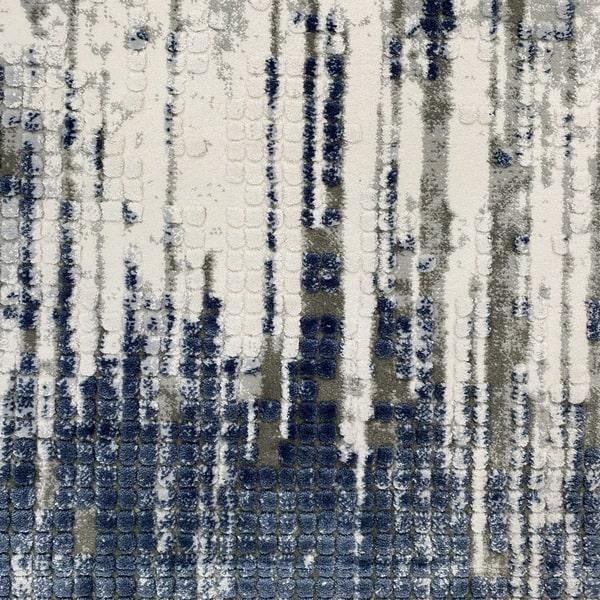 Акрилен килим - Вега 8376 Син - детайл - 1