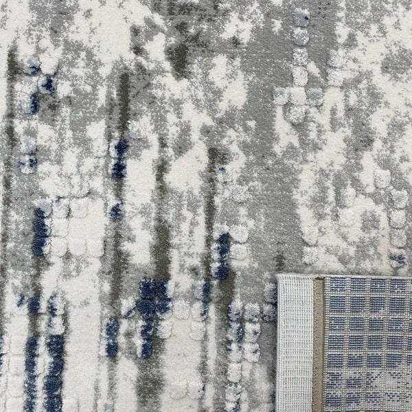 Акрилен килим - Вега 8376 Син - детайл - 3
