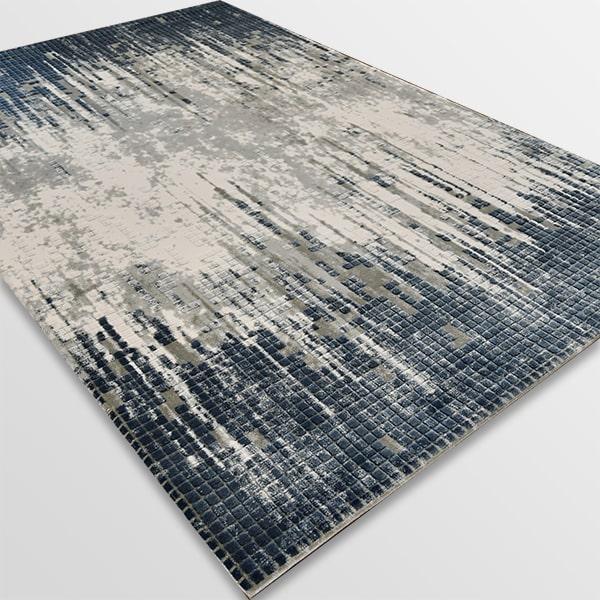 Акрилен килим - Вега 8376 Син