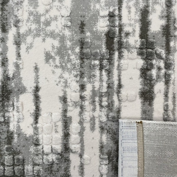 Акрилен килим - Вега 8376 Сив - детайл - 3