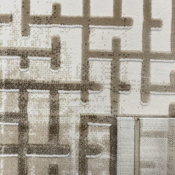 Акрилен килим - Вега 8378 Бежов - детайл - 3