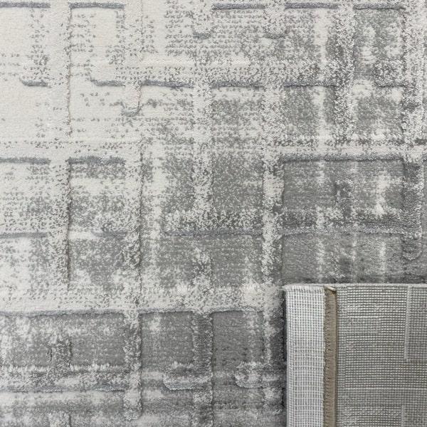 Акрилен килим - Вега 8378 Сив - детайл - 3